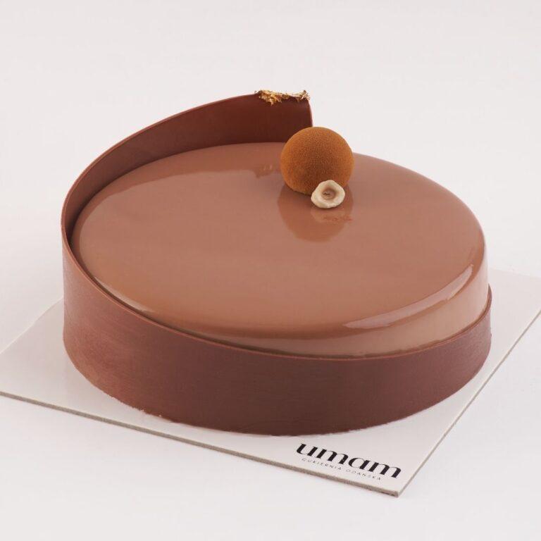 Tort orzech laskowy - mleczna czekolada UMAM